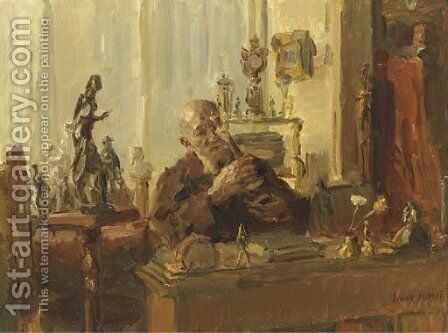 The antique dealer by Isaac Israels - Reproduction Oil Painting