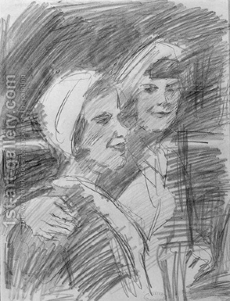 Two young women by Isaac Israels - Reproduction Oil Painting