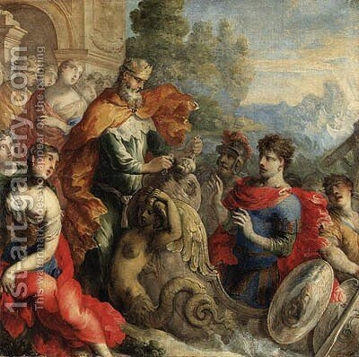 Aeolus giving the Winds to Odysseus by Isaac Moillon - Reproduction Oil Painting