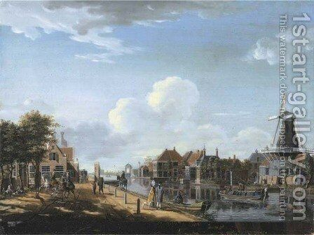 Amsterdam The 't Spaarne canal in Slooterdijk by Isaak Ouwater - Reproduction Oil Painting