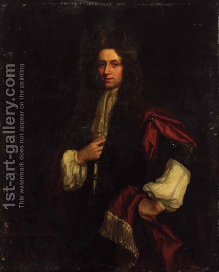 Portrait of a gentleman by Isaac Whood - Reproduction Oil Painting