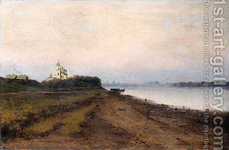 View on the Volga by Isaak Ilyich Levitan - Reproduction Oil Painting