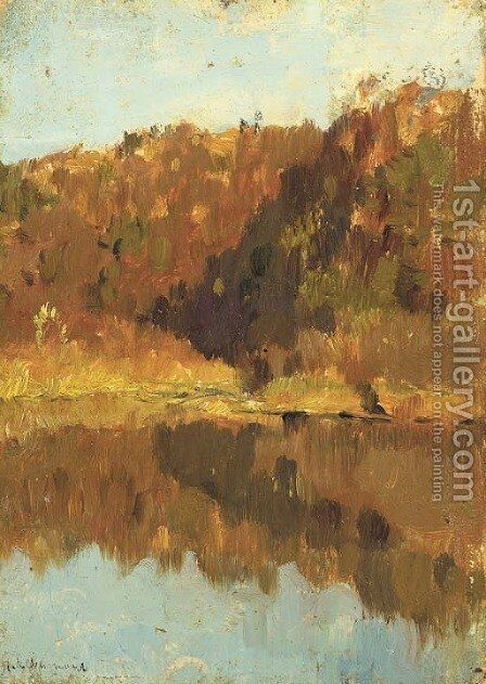 Golden autumn by Isaak Ilyich Levitan - Reproduction Oil Painting