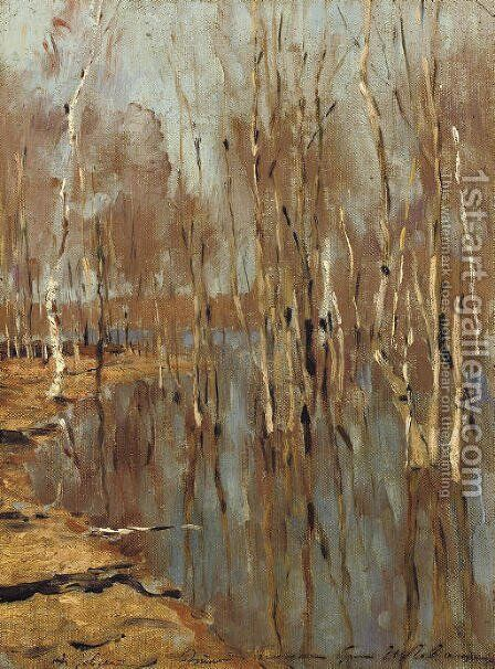 High water by Isaak Ilyich Levitan - Reproduction Oil Painting