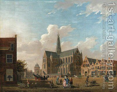 A view of St. Bavo's Cathedral by Isaak Ouwater - Reproduction Oil Painting