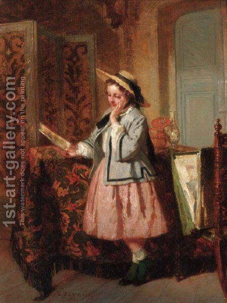 The young connoisseur by Isidore Patrois - Reproduction Oil Painting