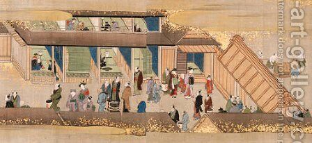 Scenes along the Sumida River by Isoda Koryusai - Reproduction Oil Painting