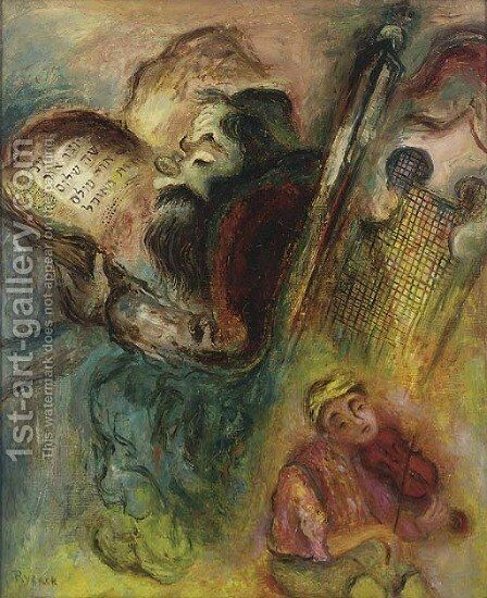 Deux mondes by Issachar ber Ryback - Reproduction Oil Painting