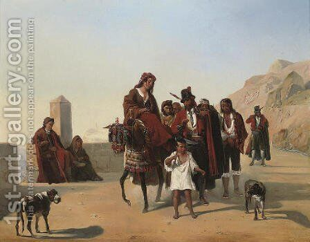 The Brigands by Italian School - Reproduction Oil Painting