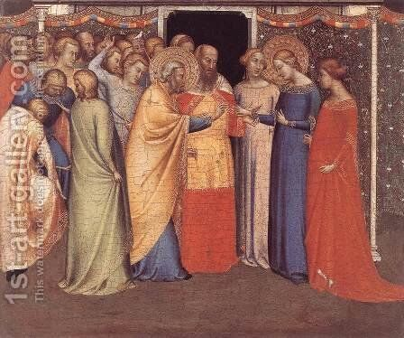 The Marriage of the Virgin 1336-40 by Bernardo Daddi - Reproduction Oil Painting