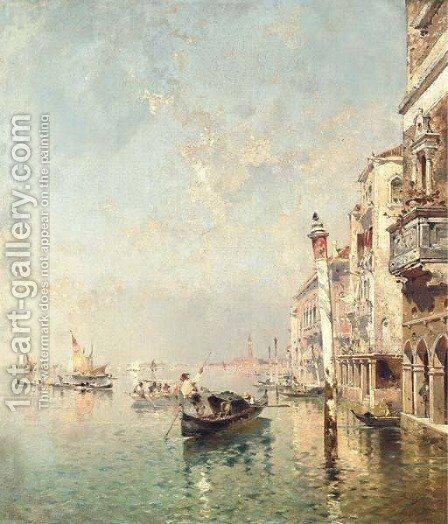 The Grand Canal, Venice by Italian School - Reproduction Oil Painting