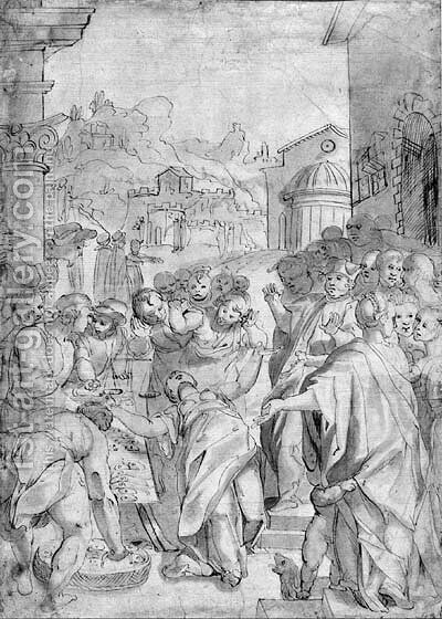 The false wife of San Marino fainting, after Giorgio Picchi by Italian School - Reproduction Oil Painting
