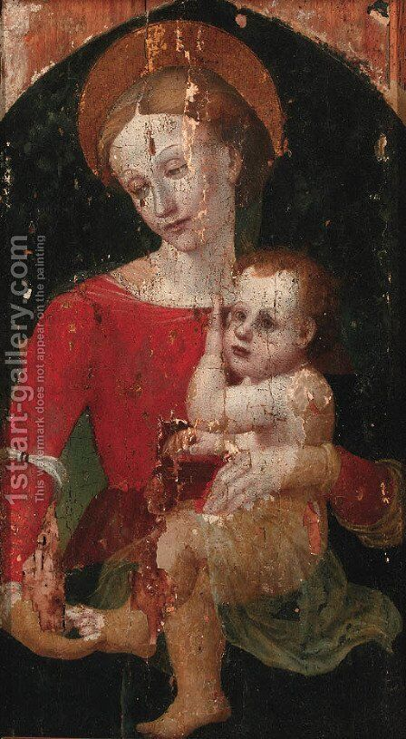 The Madonna and Child by Italian School - Reproduction Oil Painting