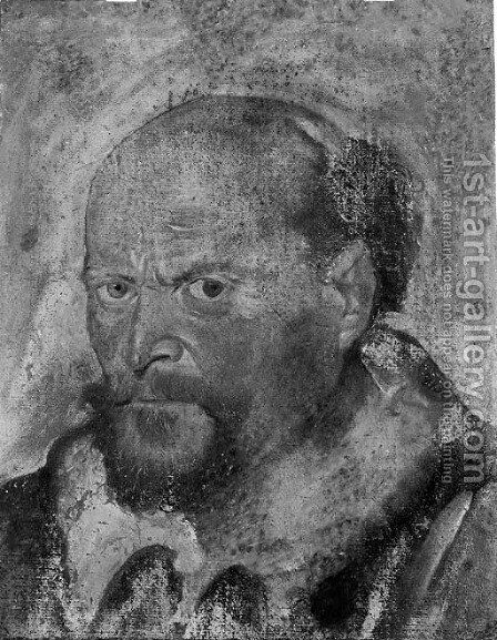 Portrait of a bearded man by Italian School - Reproduction Oil Painting
