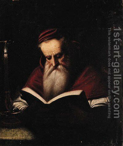 Saint Jerome by Italian School - Reproduction Oil Painting