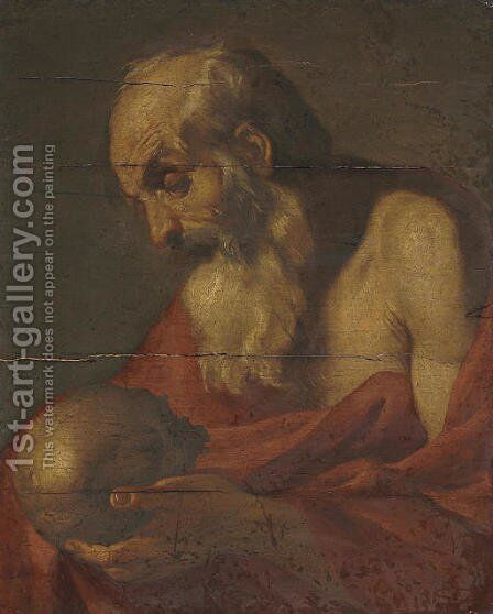 Saint Jerome 2 by Italian School - Reproduction Oil Painting