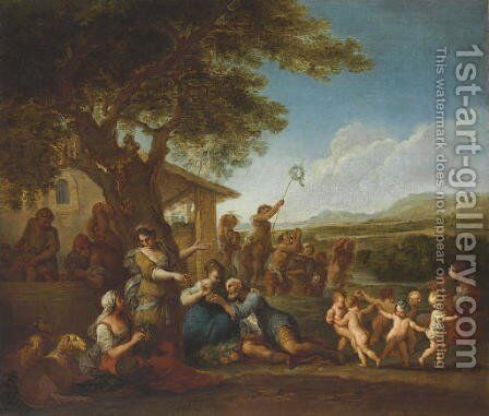A bacchanal by Italian School - Reproduction Oil Painting