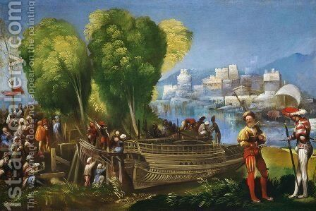 Aeneas and Achates on the Libyan Coast c. 1520 by Dosso Dossi (Giovanni di Niccolo Luteri) - Reproduction Oil Painting