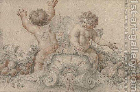 Putti disporting by Italian School - Reproduction Oil Painting