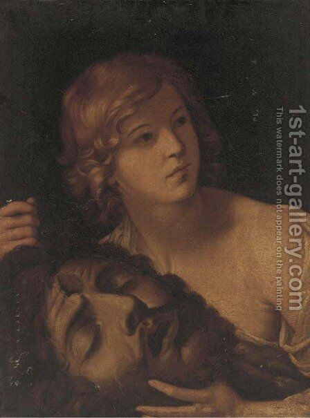 Salome with the Head of St John the Baptist by Italian School - Reproduction Oil Painting