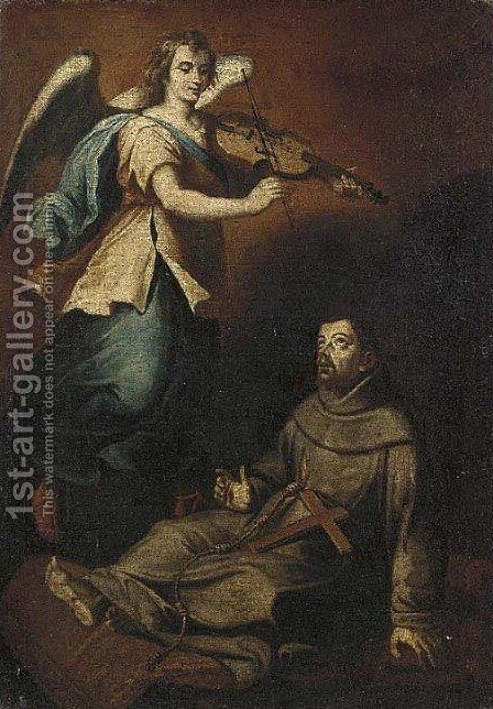 The ecstasy of Saint Francis by Italian School - Reproduction Oil Painting