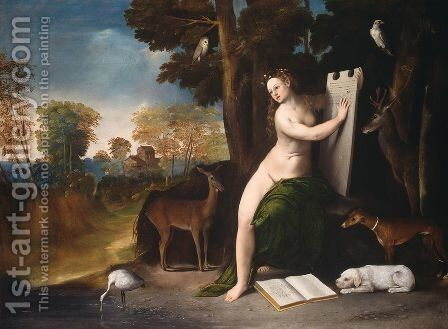 Circe and her Lovers in a Landscape 1514-16 by Dosso Dossi (Giovanni di Niccolo Luteri) - Reproduction Oil Painting