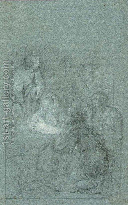 The Nativity by Italian School - Reproduction Oil Painting