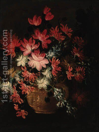 Flowers in a vase 2 by Italian School - Reproduction Oil Painting