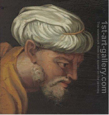 Head of a North African by Italian School - Reproduction Oil Painting