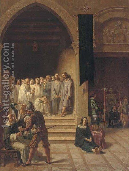 In the Vatican by Italian School - Reproduction Oil Painting