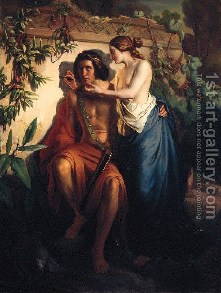 Invention of the Art of Drawing by Italian School - Reproduction Oil Painting