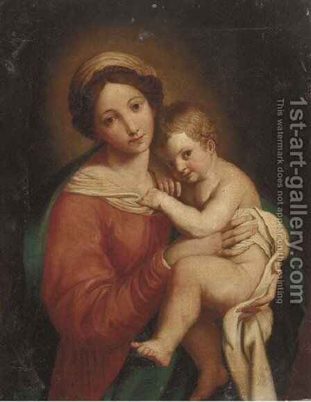 Madonna and Child by Italian School - Reproduction Oil Painting
