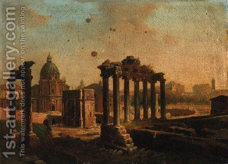 The Forum, Rome by Italian School - Reproduction Oil Painting