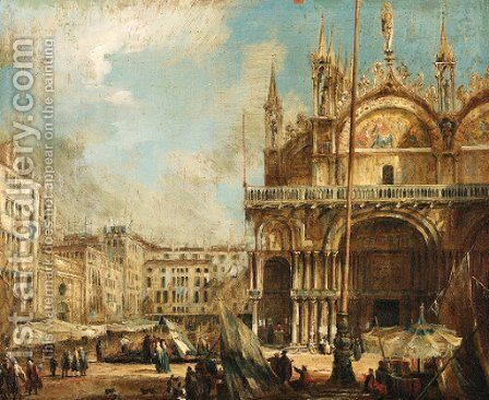 The Basilica of San Marco, Venice by Italian School - Reproduction Oil Painting