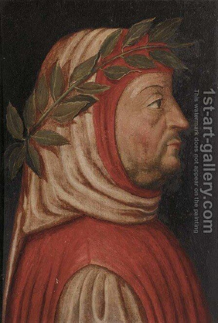 A profile of Dante by Italian School - Reproduction Oil Painting