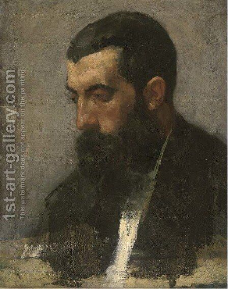 Portrait of a bearded gentleman 2 by Italian School - Reproduction Oil Painting
