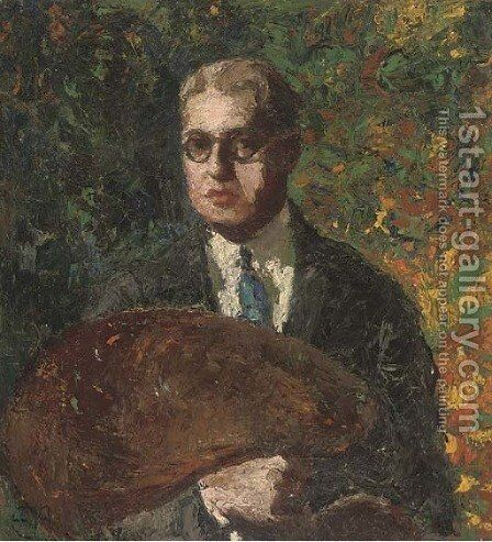 Self-portrait of an artist by Italian School - Reproduction Oil Painting