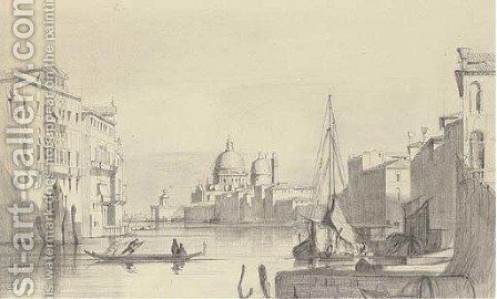The Grand Canal, Venice, looking towards Santa Maria della Salute by Italian School - Reproduction Oil Painting