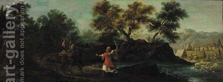 Balaam and the Angel by Italian School - Reproduction Oil Painting