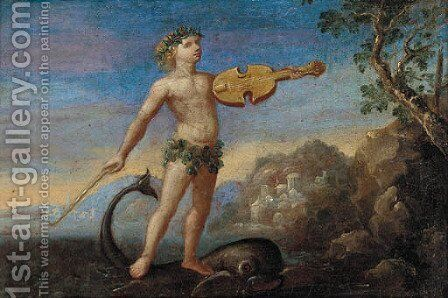 Arion and the dolphin by Italian School - Reproduction Oil Painting