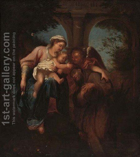 Sacra conversazione by Italian School - Reproduction Oil Painting