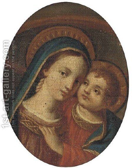 The Madonna and Child 3 by Italian School - Reproduction Oil Painting