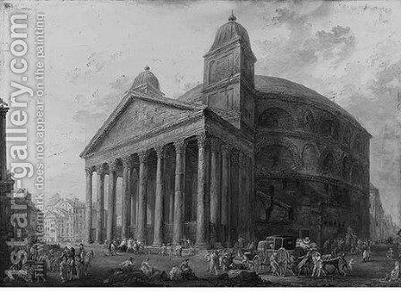 The Pantheon, Rome by Italian School - Reproduction Oil Painting