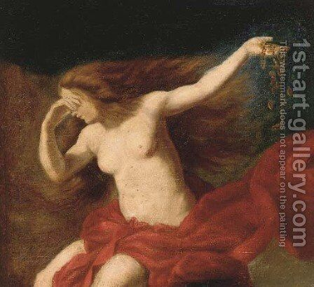 Danae, a fragment by Italian School - Reproduction Oil Painting