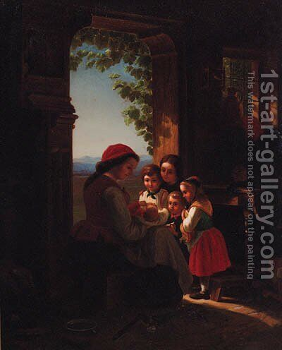 The New Arrival by Italian School - Reproduction Oil Painting