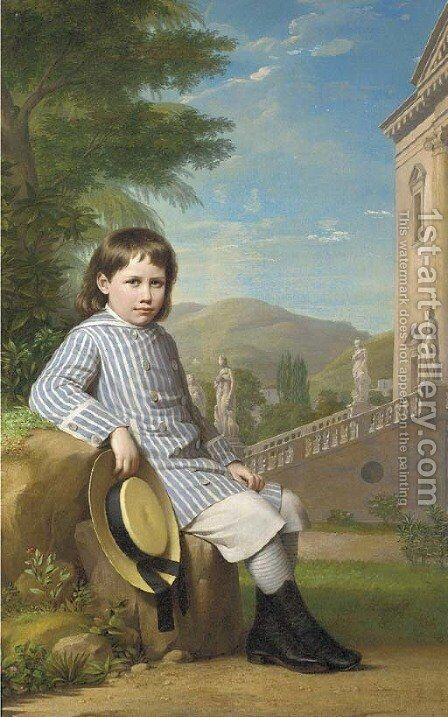 The young heir by Italian School - Reproduction Oil Painting