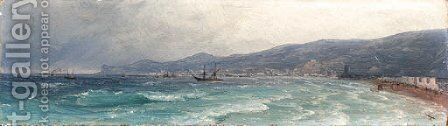Ships in the Black Sea by Ivan Konstantinovich Aivazovsky - Reproduction Oil Painting
