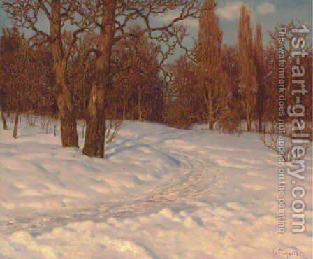 Winter Landscape at Dusk by Ivan Fedorovich Choultse - Reproduction Oil Painting