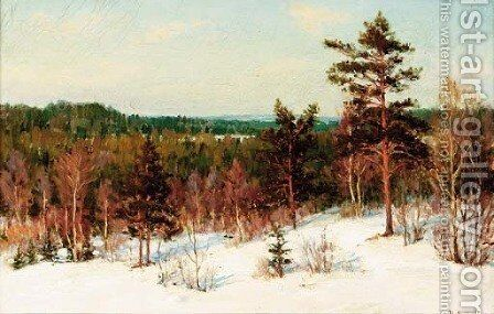 Winter - View over the Forest by Ivan Fedorovich Choultse - Reproduction Oil Painting