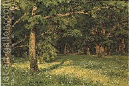 Forest clearing by Ivan Shishkin - Reproduction Oil Painting